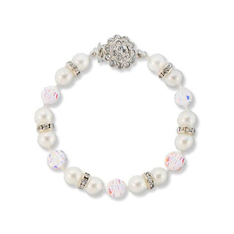 8mm Pearl Bracelet with AB Crystal