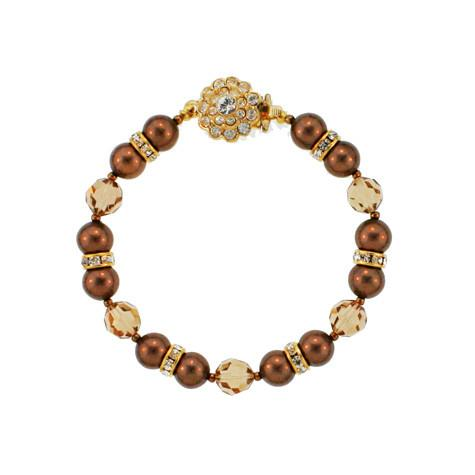 Brown & Tan Beaded Bracelet