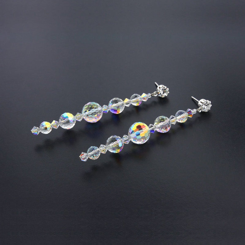 Linear Drop Earrings with AB Crystals