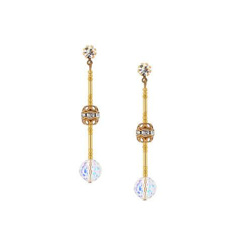 Linear Disco Bead Earrings