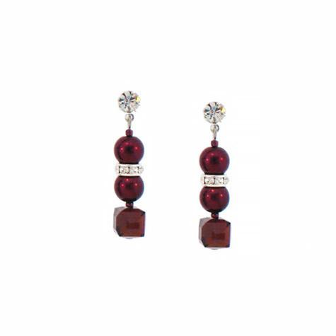 Burgundy & Garnet Crystal Earrings