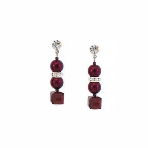 garnet pearl earrings - HOL220E