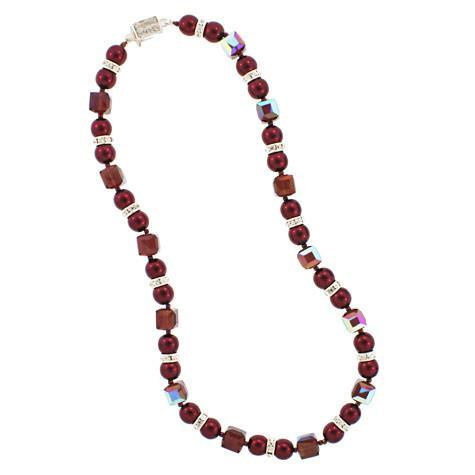garnet pearl necklace - HOL220N