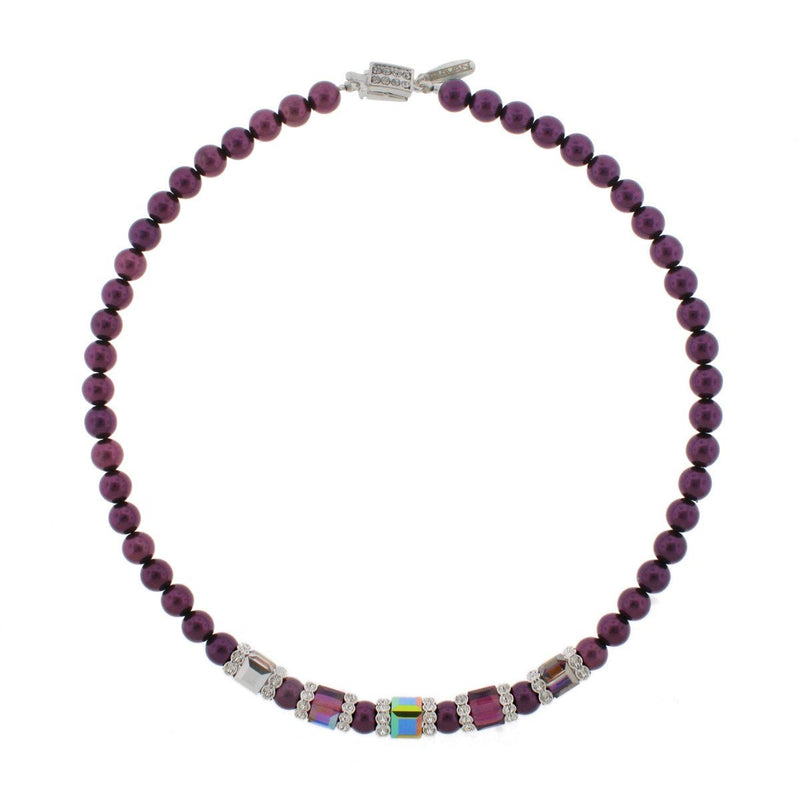 amethyst pearl necklace - HOL221N