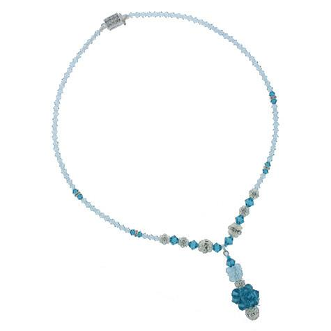 Sea Blue Rock Candy Necklace