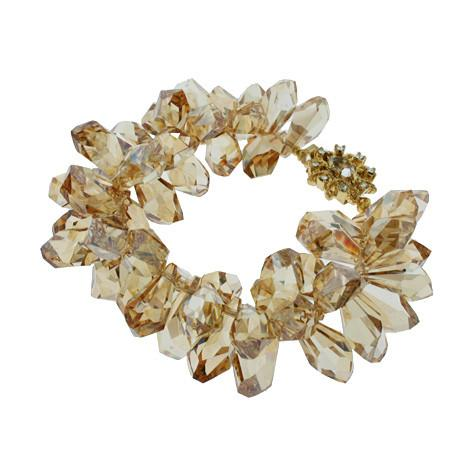 Statement Bracelet with Champagne Crystals