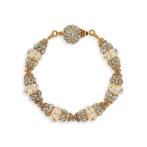 Champagne Crystal Bracelet with Tiered Rondelles