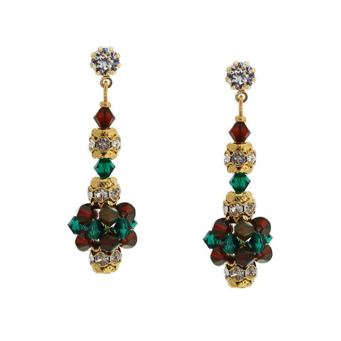 Holiday Crystal Cluster Earrings