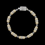 Pearl & Crystal Beaded Bridal Bracelet