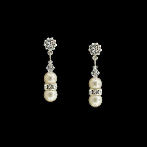 Pearl & Crystal Beaded Drop Earrings