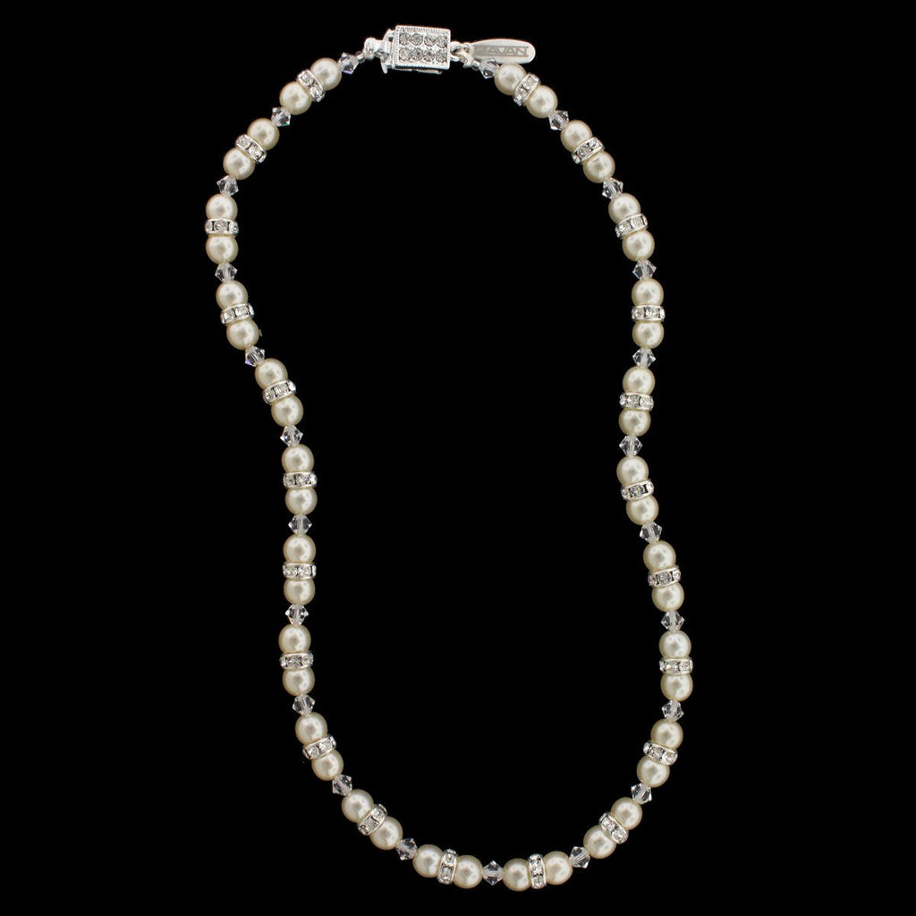 Pearl & Crystal Beaded Bridal Necklace