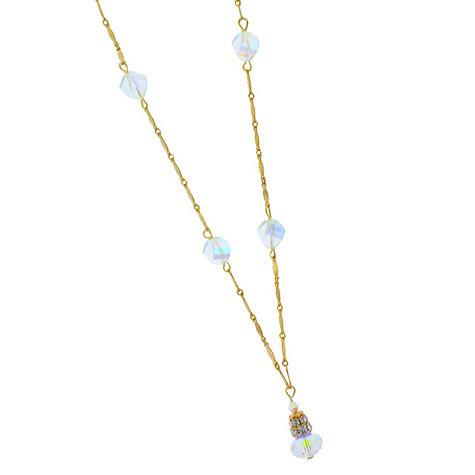 Iridescent Crystal Chain Necklace
