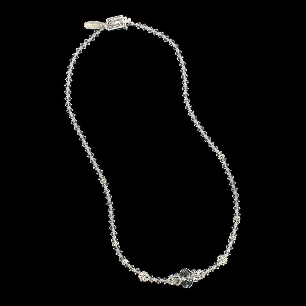 Crystal Briolette Necklace - clear