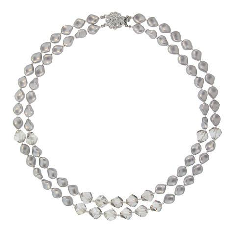 Gray Twist Pearl Necklace