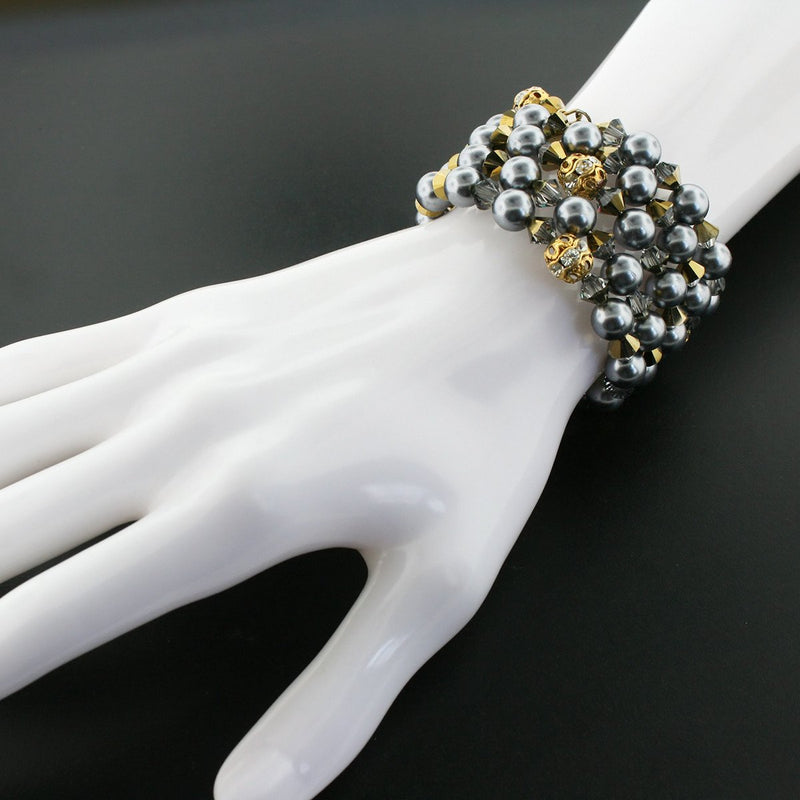 Dark Gray Wrap Bracelet