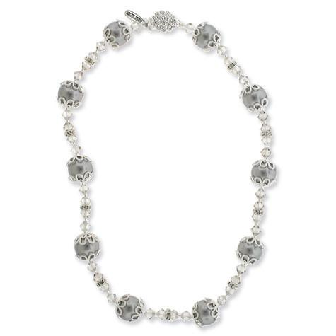 Gray Floating Pearl Necklace