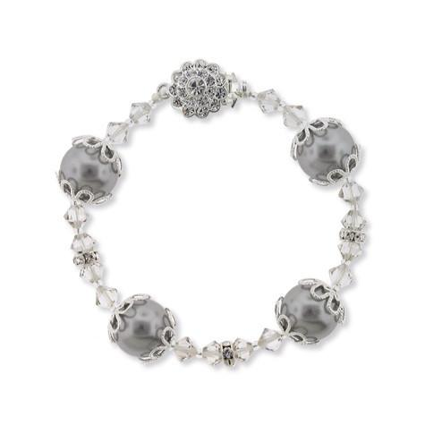 Gray Floating Pearl Bracelet