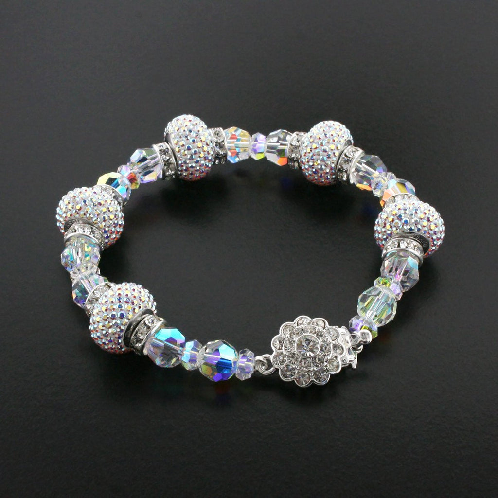 Luxury Bracelet with Pavé Charms