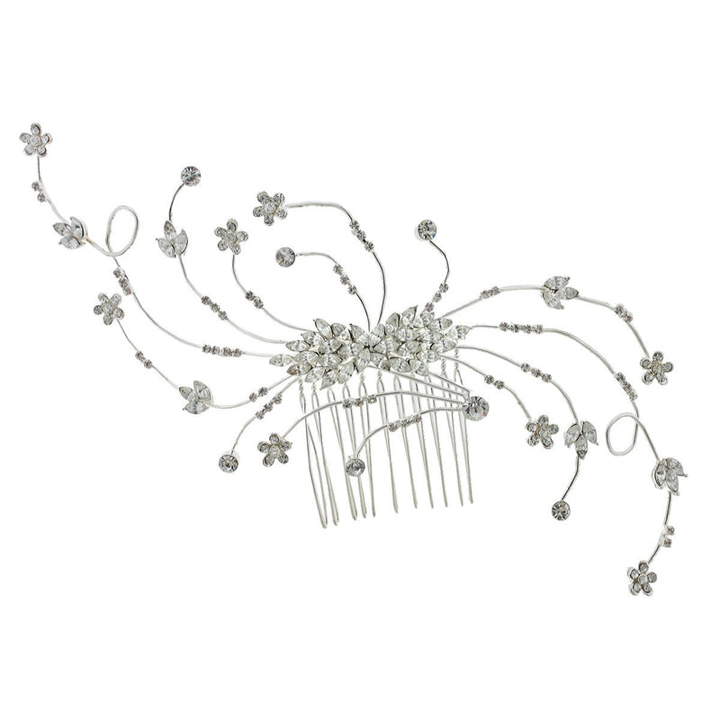 Whispy Crystal Bridal Haircomb