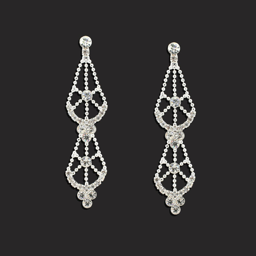 2-Tier Lace Pattern Earrings - LGI02E
