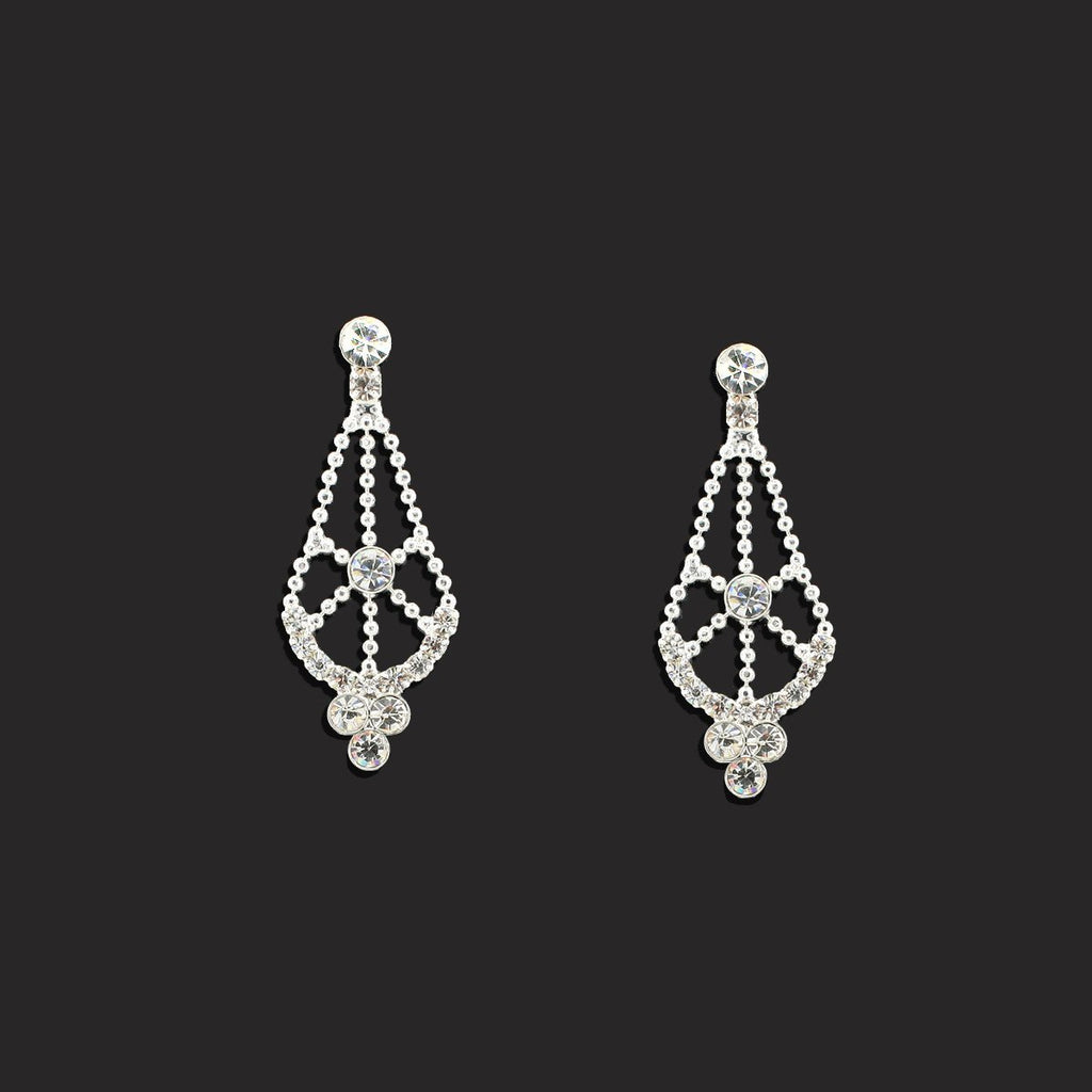 1-Tier Lace Pattern Earrings - LGI02E