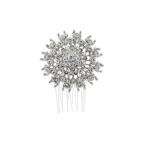 Round Crystal Bridal Haircomb