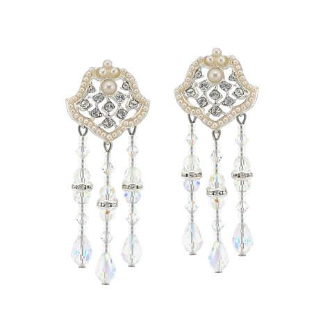 Pearl & Crystal Chandelier Earrings