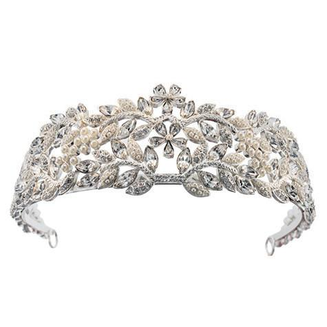 "2"" High Pearl & Crystal Tiara"