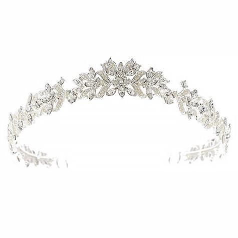 Bridal Tiara with Pearl & Marquise Crystals