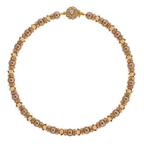 2-Tone Champagne Beaded Necklace - PPO-32X