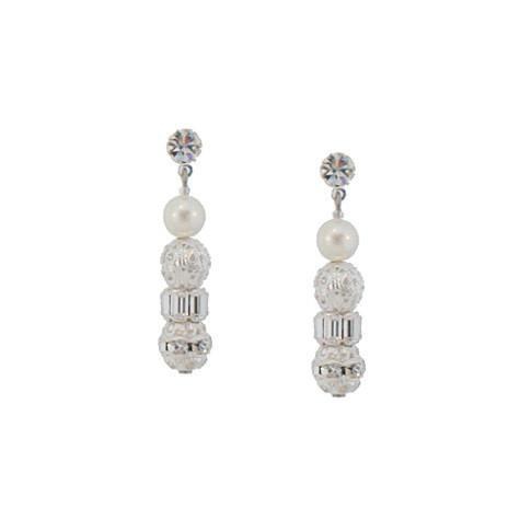 Pearl Dangle Earrings with Rondelles