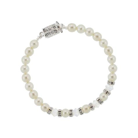 Pearl & Crystal Bracelet with Rondelles