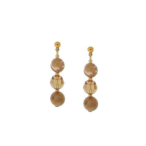 Crystal & Riverstone Earrings