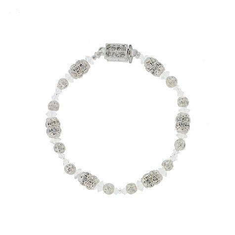 Crystal Bracelet with Channel Set Rondelles