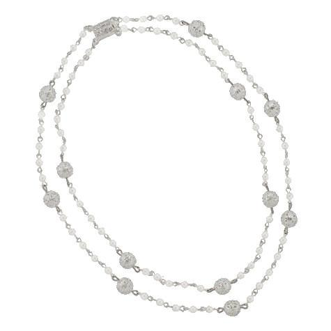 2-Row Pearl Chain Necklace