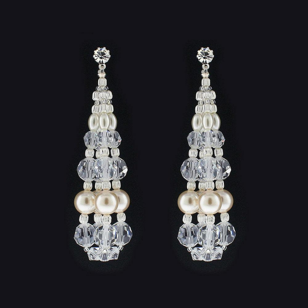 Pearl & Crystal Bauble Earrings