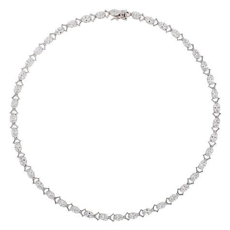 CZ Necklace with Oval Stones