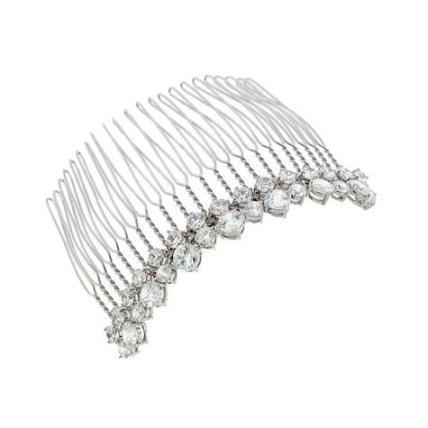 2-Row Cubic Zirconia Haircomb