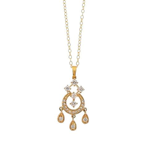 Gold Chandelier Pendant Necklace