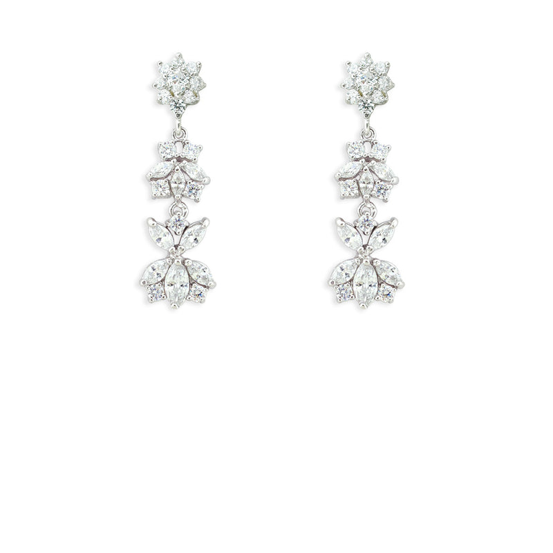 Customizable Modern CZ Earrings version 5