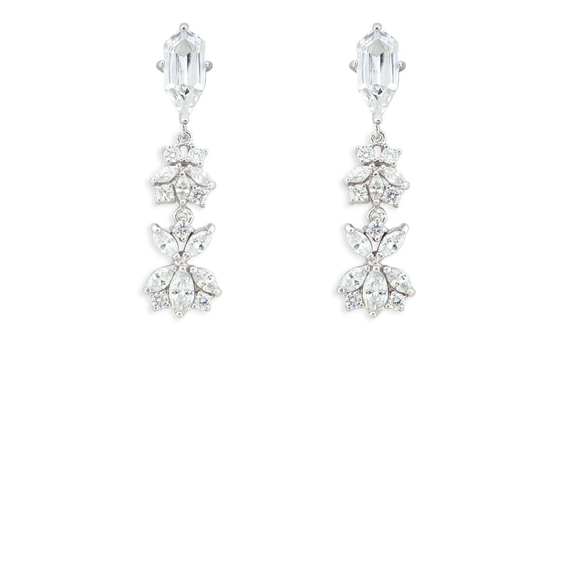 Customizable Modern CZ Earrings version 6