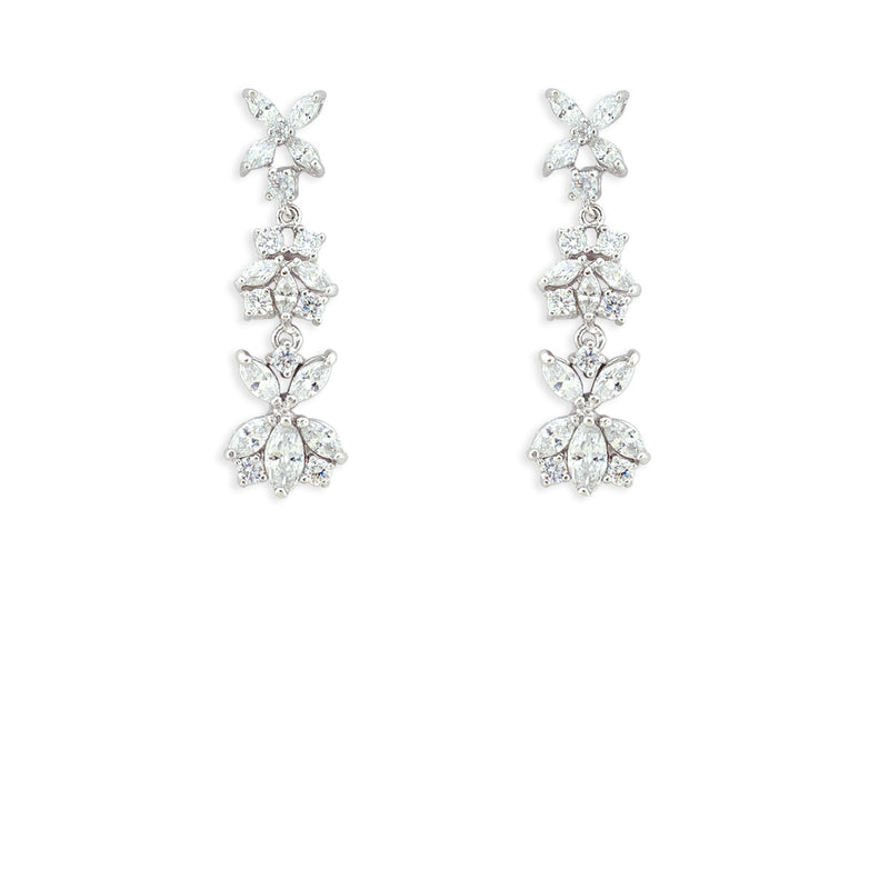 Customizable Modern CZ Earrings version 4