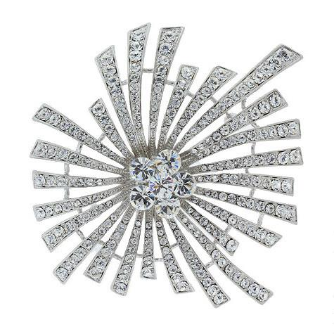 Modern Crystal Spray Brooch