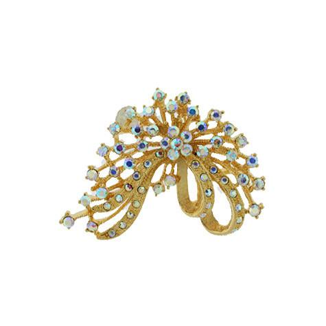 Abstract Gold Iridescent Brooch - VAB6091P-g.p.