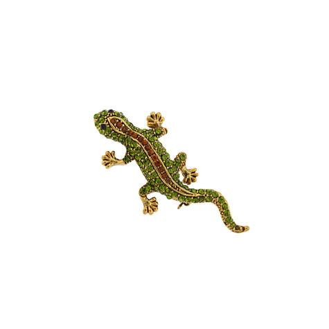 Green & Brown Lizard Pin