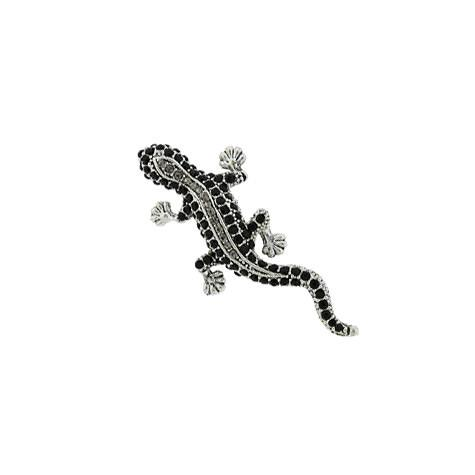 Gray & Black Lizard Pin