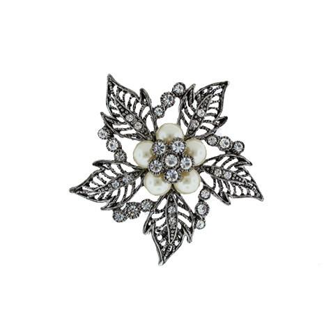 Vintage Inspired Flower Brooch