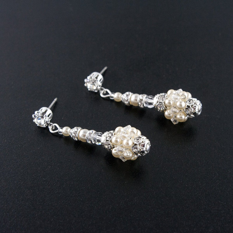 Woven Cluster Drop Earrings