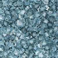 Aquamarine Satin Crystal Beads