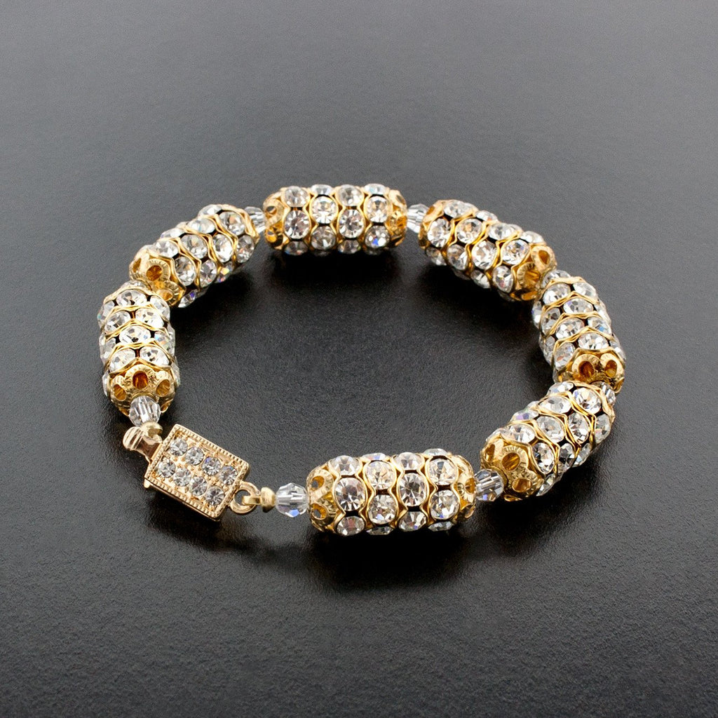 Ultra Lux Crystal Bracelet on black